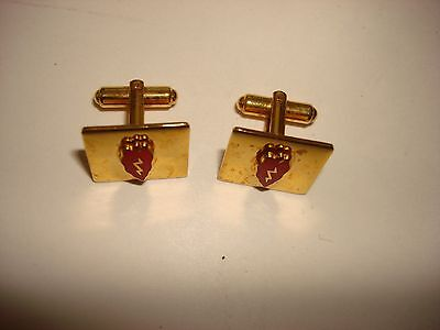 Pair Of US Army 25th INFANTRY DIVISION Gold Tone Cuff Links *Great Gift*