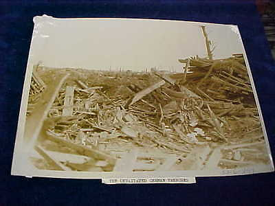 Orig WW1 R/P British Western Front The Devastated German Trenches