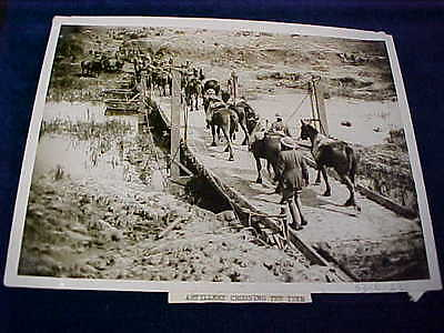 Orig WW1 R/P British Western Front Artillery Crossing The Yser