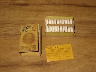 1900's Dr' Shoop's Headache Tablets Full Box With Paper-Early Aspirin-Quack