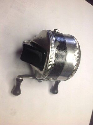 Used Zebco 33 Spincast Reel With Metal Foot, Made In USA