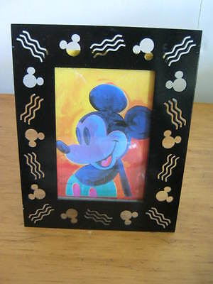 """Disney, Graves, Black Metal, Mickey Mouse Frame, Holds 3 1/2"""" x 5"""" Photo"""