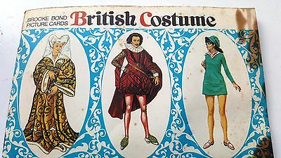 Brooke Bond Tea Picture Cards 1968  - British Costumes - Book & Cards