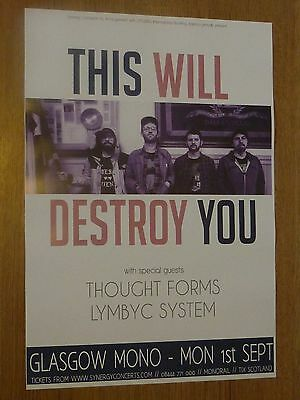 This Will Destroy You - Glasgow 2014 tour concert gig poster