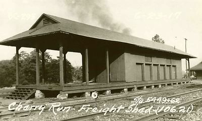6GG637  RP 1917/1960s? WESTERN MARYLAND RAILROAD FREIGHT STATION CHERRY RUN PA