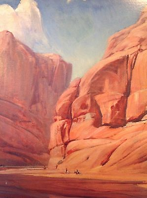 Santa Fe Railroad Calendar Top For 1988 Canyon de Chelly By Gerald Cassidy