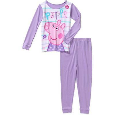 Peppa Pig Purple Pajamas Size 12 18 Months 2T 3T 4T 5T New!
