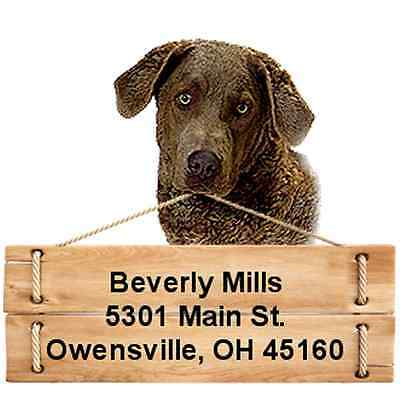 Chesapeake Bay Retriever return address labels DIE CUT TO SHAPE