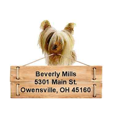 Chinese Crested return address labels DIE CUT TO SHAPE