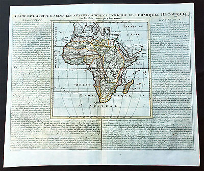 1719 Chatelain Large Old, Antique Map of Africa - Beautiful