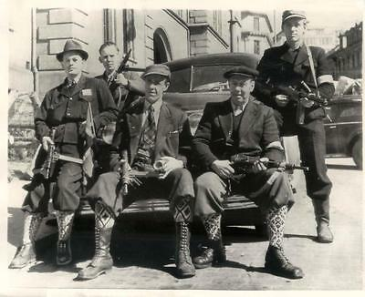 """WWII Norwegian """"Death Gang"""" with Car of Quisling's Chief of Police Press Photo"""