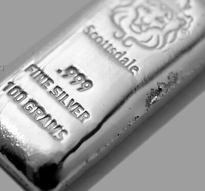 100~Gram ~Pure .999 Silver~ Pourded Loaf Bar ~3.21~Ounces Silver Bullion~ $84.88