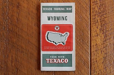 1939 Texaco Oil Co. Gas Service Station Road Touring Map-Wyoming Wy.
