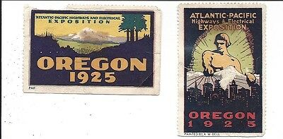 Poster Stamps, Atlantic-Pacific Highways & Electrical Exposition, Oregon, 1925