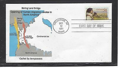 Bering Land Bridge Airmail Fdc 1991 Anchorage, Alaska Only One Made