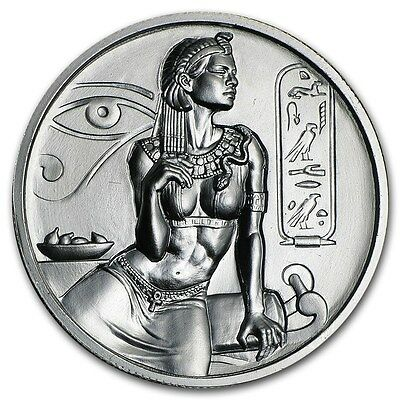 2~Oz ~ Pure .999 Silver Round ~ Cleopatra ~ Ultra High Relief ~Fantastic~ $62.88