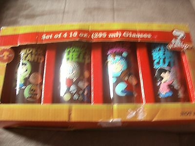 Peanuts Glasses Quotes 10 Oz Glass Tumbler Charlie Brown Snoopy Lucy Set Of 4