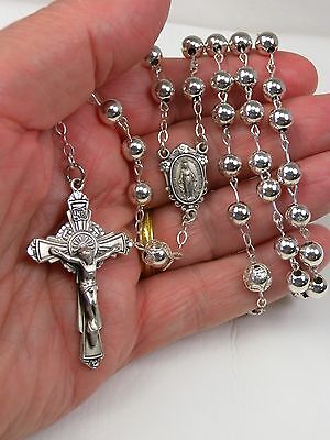 Carmelite Convents NEW Sterling Silver Hallmarked Roman Catholic Rosary