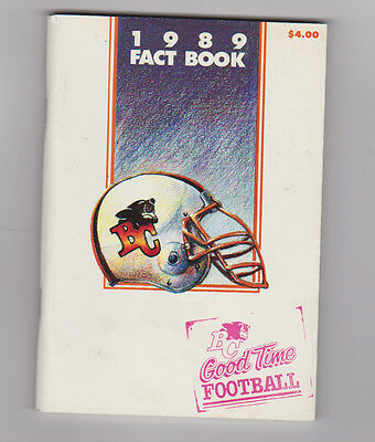 1989 BC Lions Media Guide Fact Book