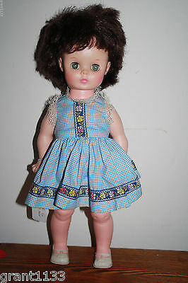 """Vintage 16"""" Vinyl Sixties Doll Marked Ae Dressed! Good Condition"""