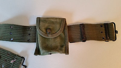 Vintage Army  pouch and Belt