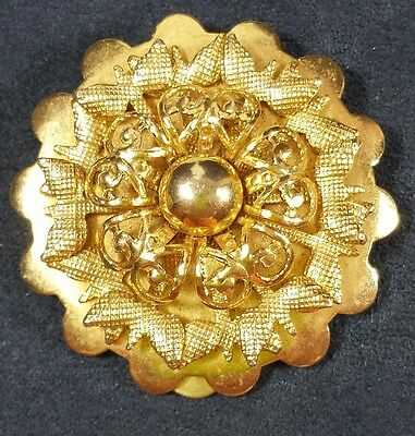 Vintage Jewelry Scarf Clip Brooch Pin Gold Tone Flower Rose Beautiful Christm...