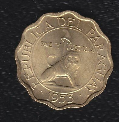 Paraguay 15 Centimos 1953