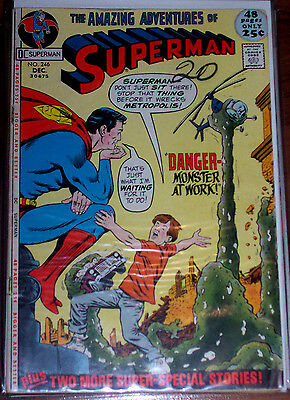 SUPERMAN #246 (VG/FN) Big 52 Pages! Vintage Bronze-Age Issue! DC 1971