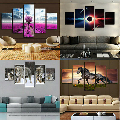 Huge Modern Home Wall Decor Art Oil Painting Picture Print No Frame Pretty