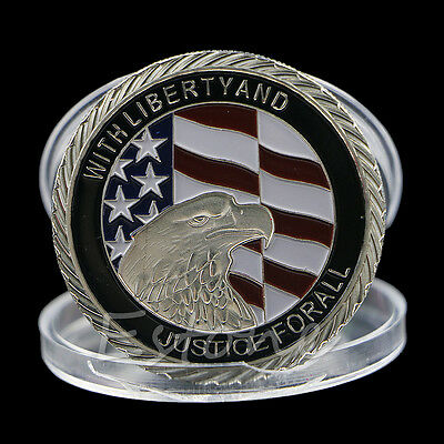2011 911 10th Anniversary Silver Plated 9-11-2001 TWIN TOWERS COMMEMORATIVE COIN