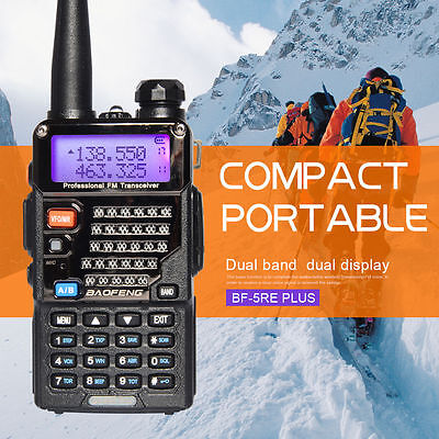 Canada Stock Baofeng UV-5RE Plus (5R+) Dual Band Walkie Talkie Two Way Ham Radio