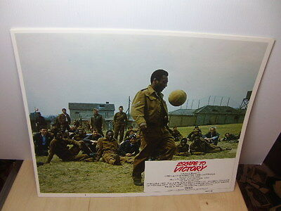 """Escape to Victory set of 8 large-size 14"""" x 11"""" original Lobby Cards made USA"""