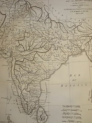 William DANIELL ENGRAVING MAP BENGAL BHARATA KHANDA INDIA HINDOUSTAN 1820 b