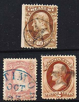 USA  3x oldies with nice CANCELS