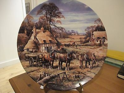 Beautiful Wedgwood Collectors Plate Winter Logging By Chris Howells
