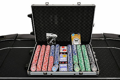 Tournament Poker Chips - 1000 Piece Numbered Poker Set in Low Numbers (B Grade)