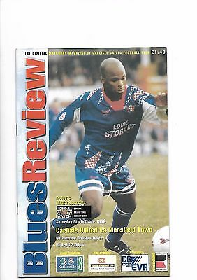 Carlisle United  v  Mansfield Town, 5th October 1996