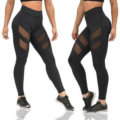 Womens YOGA Gym Workout Sport Leggings Running Fitness Pants Stretch Trouser USA