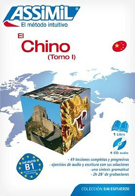 Pack CD chino sin esfuerzo tomo 1.libro 4 cd's audio Aa.Vv. Assimil (Fr) Book