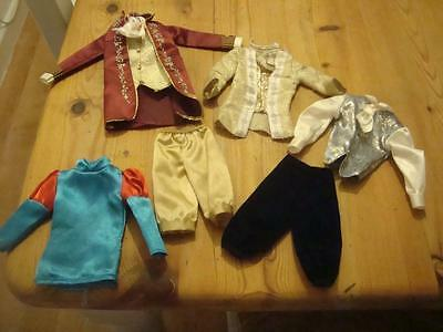 Good Selection Of Six Items Of Barbie Ken Doll Prince / King Clothes