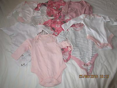 Bundle of Girl's Body Suits Age 0-3 Months