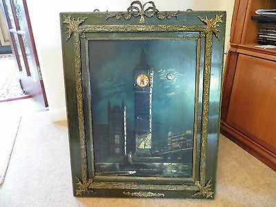 Early 20th Century antique Big Ben picture clock with musical westminster chimes