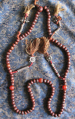 Antique Used Tibetan 10 mm Pure Natural Bodhi Seed Prayer Mala,Nepal