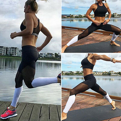 Fashion Womens Yoga Workout Gym Leggings Fitness Sport Trouser Athletic pant USA