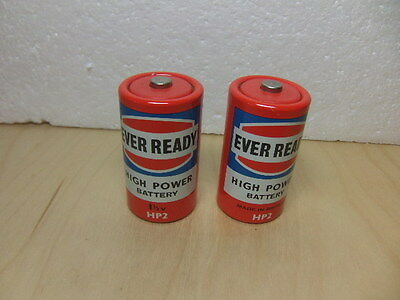 Ever Ready – 2 x HP2 – For Longer Life! – c 1970 Batteries