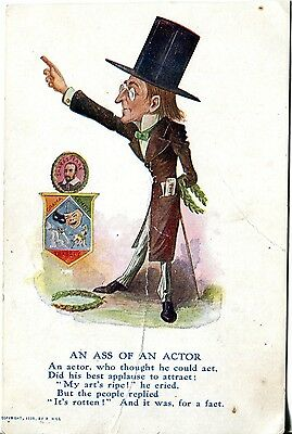 1905 Artist Signed R. Hill Actor Comic Postcard
