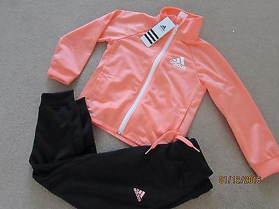 Genuine ADIDAS Girl`s Full Tracksuit  Top/Pants,  size age 5-6 ,116cm