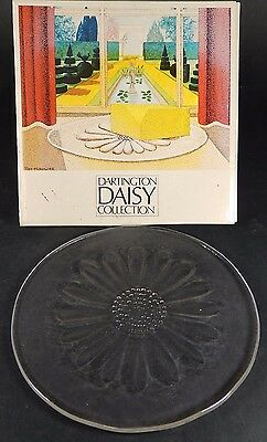 Vintage Dartington Daisy Collection Glass Butter Platter - 24% Lead Crystal