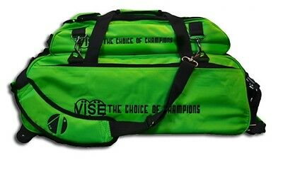 Vise 3 Ball Tote Bowling Bag with shoe pocket Green
