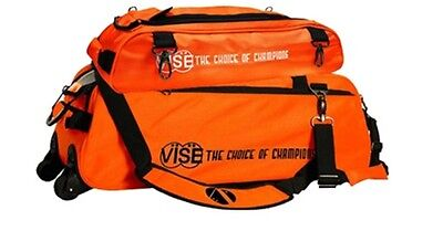 Vise 3 Ball Tote Bowling Bag with shoe pocket Orange